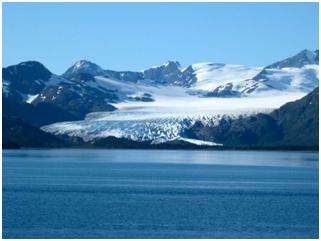 Trebenkof glacier scours into rocks of the Valdez Group, near Whittier Alaska (Photo: J.I. Garver).