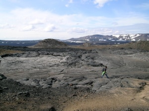 Krafla lava landscape